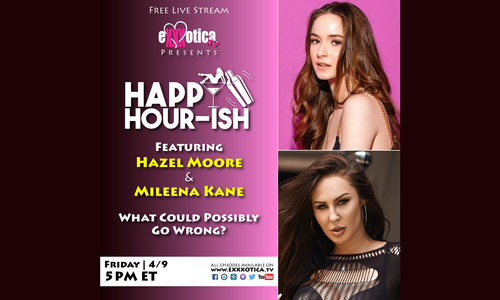 Mileena Kane, Hazel Moore Live on Exxxotica's 'Happy Hour-ish'