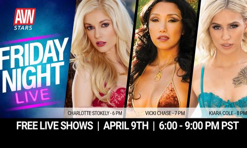 AVN Stars Announces 'Friday Night Live' Lineup