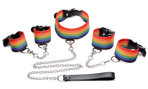 Kinky Pride Rainbow Bondage Set